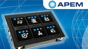 APEM introduces new CANbus keypad with 6 customizable keys